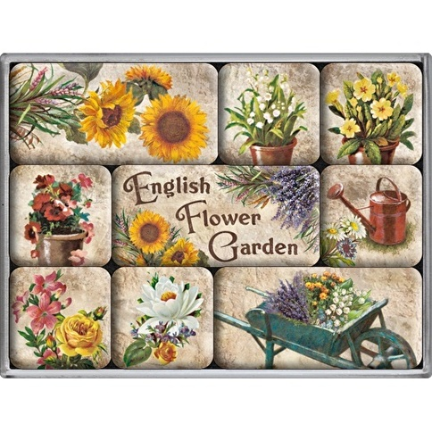 Nostalgic Art English Flower Garden Magnet Set Renkli